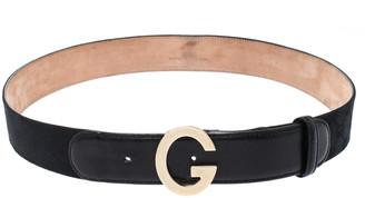Gucci Black GG Canvas G Buckle Belt 95CM