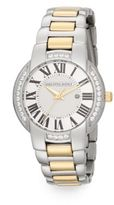 Saks Fifth Avenue Stainless Steel & Goldtone Crystal Bezel Watch