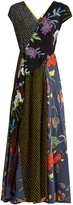 Diane von Furstenberg Multi-print capped-sleeved silk dress