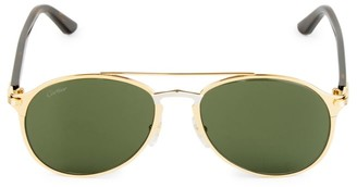 Cartier 56MM Aviator Metal Sunglasses