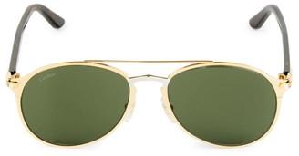 Cartier 56MM Aviator Metal Sunglasses