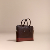Burberry The Slim Barrow In Panelled London Leather