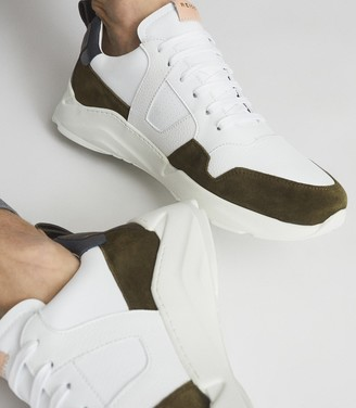 Reiss Shelton - Leather Trainers in Multi
