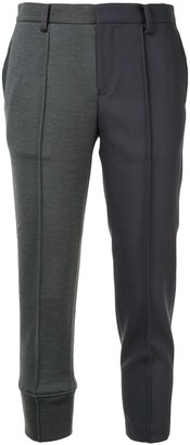 Undercover Contrast Cropped Trousers