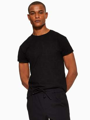 Topman Muscle Fit Roller T-Shirt - Black