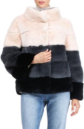Gorski Reversible Horizontal Rex Rabbit Jacket