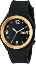 Neff Unisex NF0225BKGD Stripe Analog Display Japanese Quartz Black Watch