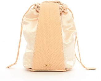 Aitch Aitch The Lillian Pouch In Nude With Brass Hardware