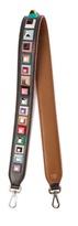 Fendi Strap You stud-embellished leather bag strap