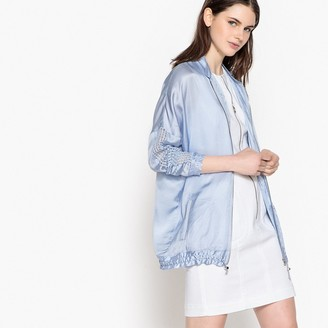 La Redoute Collections Satin Look Jacket with Openwork Detail