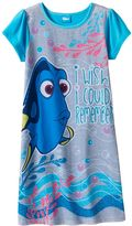 "Disney Pixar Finding Dory Girls ""I Wish I Could Remember"" Nightgown"