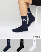 Le Coq Sportif 3 Pack Crew Socks In Multi 1611114