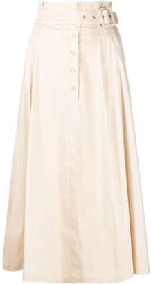 Patrizia Pepe Flared Midi Skirt