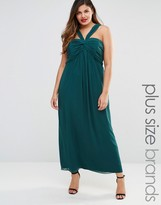 Junarose Plus Mirka Maxi Dress With Rouched Top