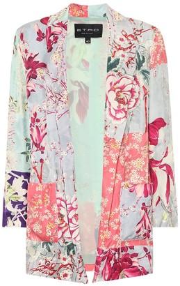 Etro Floral satin jacket