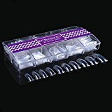 Ecbasket 500 PCS Clear Dual Nail System Form Uv Gel Acrylic Nail Mold 10 Size (Update BIG Size for Thumb)