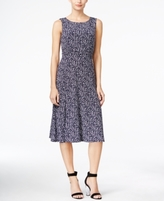 Jessica Howard Petite Ruched-Waist Floral Dress