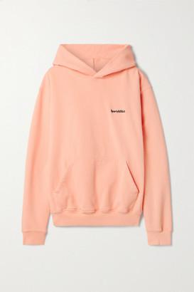 Sporty & Rich Embroidered Cotton-jersey Hoodie - Pastel orange