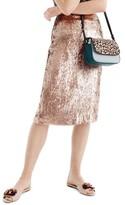 J.Crew Women's Rose Gold Sequin Skirt
