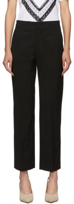 RED Valentino Black Cropped Kick Trousers
