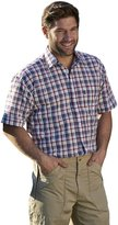 i-Smalls Men's Gowran Checked Short Sleeve Cotton Regular Fit Shirt (5XL)
