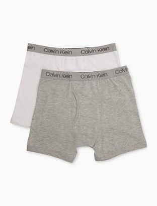 Calvin Klein Big Boys 2-Pack Cotton Stretch Logo Boxer Briefs