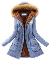 Dreamtao Womens Winter Down Coat Jackets Thicken Warm Fur Collar Parkas Down Parka