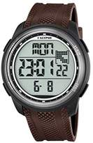 Calypso Unisex Digital Watch with LCD Dial Digital Display and Brown Plastic Strap K5704/7