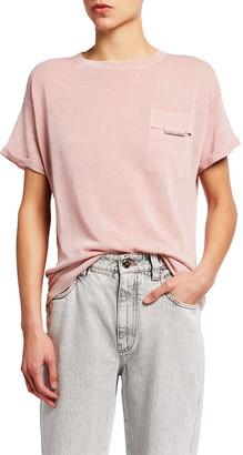 Brunello Cucinelli Jersey Cotton Short-Sleeve T-Shirt with Monili Trim