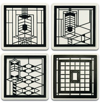 CoasterStone Frank Lloyd Wright Early Chicago Set of 4 Coasters One Size