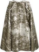 Jil Sander Navy spotted pattern full skirt