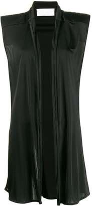 NO KA 'OI Exaggerated-Shoulder Open-Front Gilet