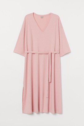 H&M H&M+ Ribbed jersey dress