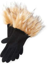 Ralph Lauren Faux Fur–Cuff Gloves