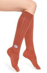 Gucci Logo Patch Knee High Socks