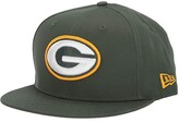 New Era NFL Basic Snap 9FIFTY Snapback Cap - Green Bay Packers (Green 1) Caps