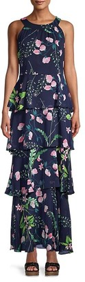 Avignion Tiered Floral Maxi Dress