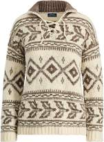 Ralph Lauren Geometric Lace-Up Sweater