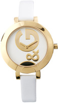 D&G Ladies Leather Strap Round Face Watch