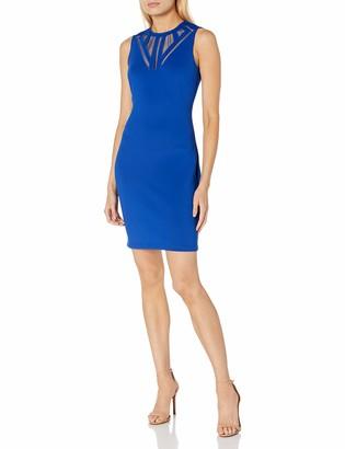 GUESS Women's Cobalt Scuba Dress with A Fun Neckline Detail 2