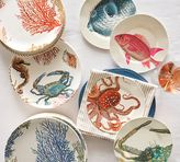 Pottery Barn Under the Sea Coral Dinner Plate, Set of 4