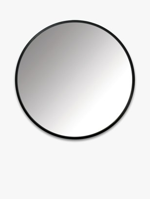 Umbra Rubber Hub Round Mirror, Black