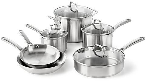 Calphalon Stainless Steel 10 Piece Cookware Set