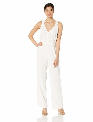 Cupcakes And Cashmere Women's Topeka Crepe Jumpsuit with Shoulder Slits