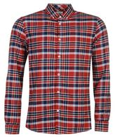 Soviet Mens Flannel Check Shirt Button Front Long Sleeve Collar Neck Top