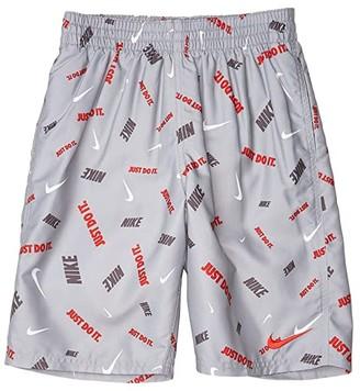 Nike Kids 8 Logofetti Volley Shorts (Little Kids/Big Kids) (Light Smoke Grey) Boy's Swimwear