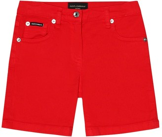 Dolce & Gabbana Kids Stretch-cotton shorts