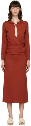 CHRISTOPHER ESBER Red Cummerbund Orbit Dress