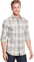 Tasso Elba Moors Long Sleeve Brushed Cotton Button Down Shirt