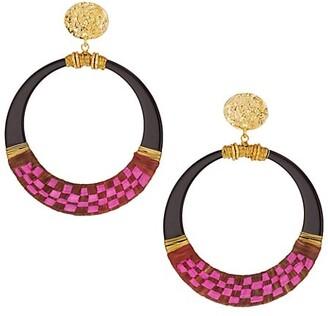 Gas Bijoux Lodge 24K Goldplated Hoop Earrings